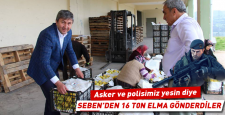 Asker ve polise 16 ton elma