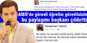 AK Partili başkandan dikkat çeken paylaşım