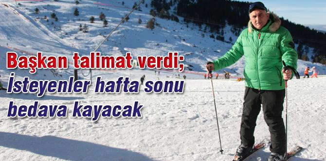 Ücretsiz kayak eğitimleri başlıyor