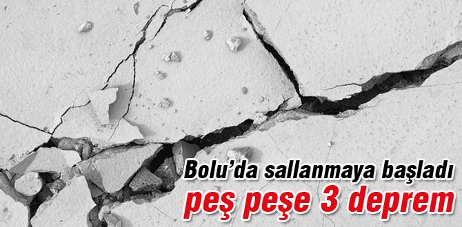 Göynük'te peş peşe 3 deprem
