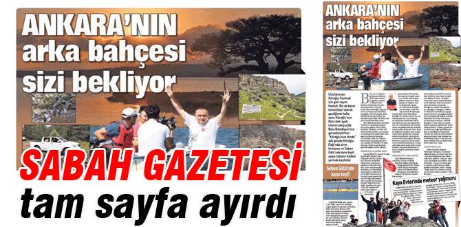 Sabah Gazetesinde tam sayfa Bolu