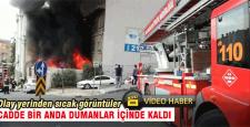 Çarıkçıoğlu sokakta yangın