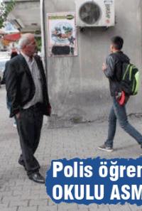 Polis kaçak öğrencilerin peşinde