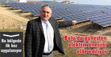 Bolu'da güneşten elektrik enerjisine