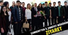 Çamkent Lisesi öğrencileri müdürü ziyaret etti