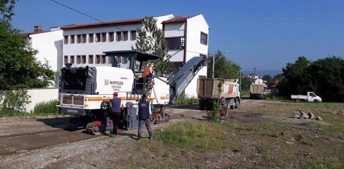 Yeniçağa'da asfalt çalışması başladı