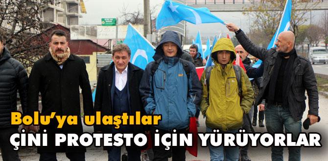 Çin'i protesto için yürüyen 2 Doğu Türkistanlı, Bolu'ya ulaştı