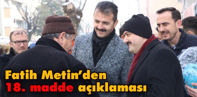 Fatih Metin esnaf ziyaretlerine devam ediyor