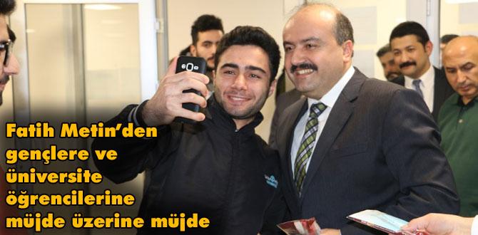Fatih Metin'den üniversite öğrencilerine ve Bolulu gençlere müjdeler