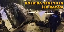 İşte Bolu'da yılın ilk kazası