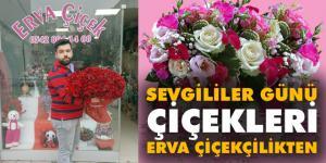 Sevgililer günü çiçekleri 'Erva Çiçekçilikten'