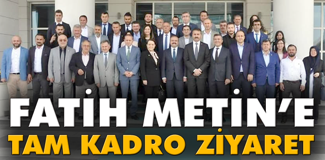 AK Parti Teşkilatları Bakan Yardımcısı Metin'i ziyaret etti