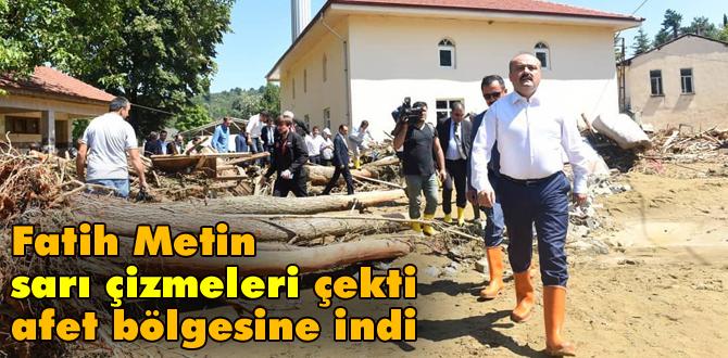 Fatih Metin afet bölgesinde