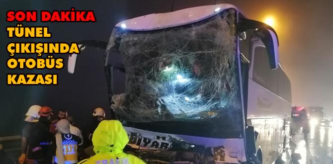 Tünel çıkışında büyük kaza