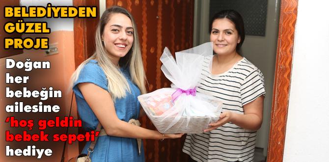 Bolu Belediyesi'nden yeni doğan bebeklere hediye sepeti