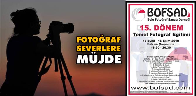 Fotoğraf severlere müjde, BOFSAD'DA kurs başlıyor