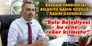 Belediye Sözcüsü Özdemir'den Bolu halkına teşekkür