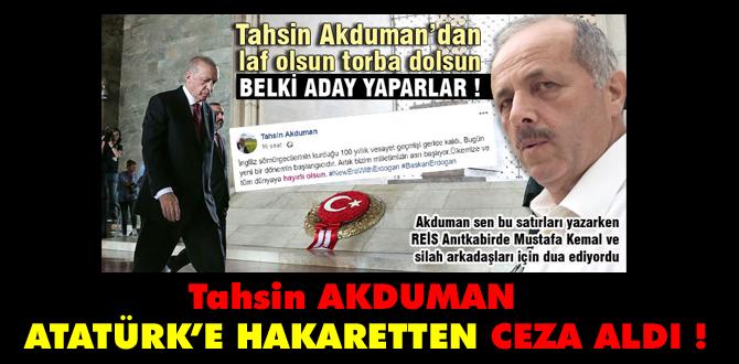 Atatürk'e hakaretten ceza aldı