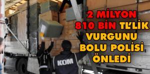 TIR'da 2,8 milyon liralık kaçak kulaklık ve şarj cihazı ele geçirildi
