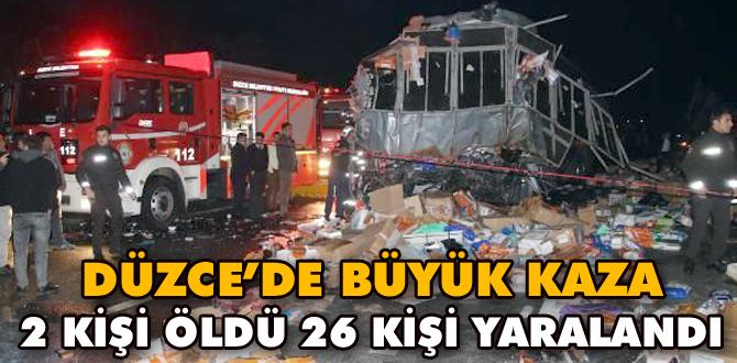 Düzce'de otobüs kazası oldu