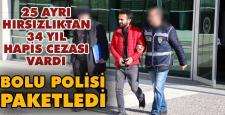 34 yıl hapis cezası bulunan hırsız tutuklandı