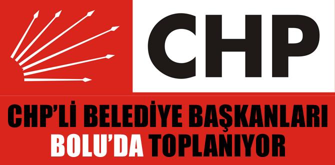 CHP'li, belediye başkanları Bolu'da toplanacak