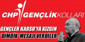 CHP'li gençler Karsu'ya kızgın