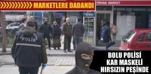 Bolu polisi kar maskeli hırsızın peşinde