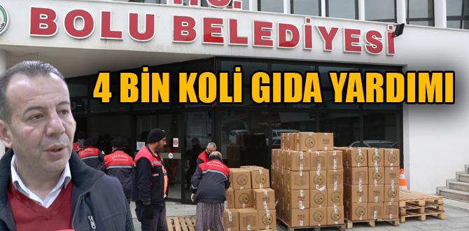 Bolu Belediyesi'nden 4 bin koli gıda yardımı